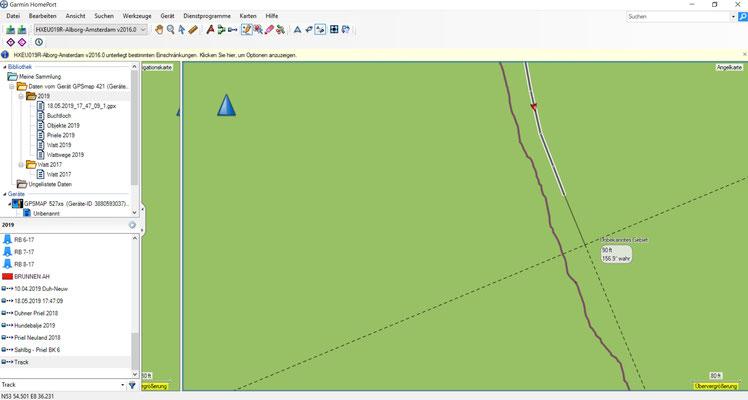 Anpassen der neuen Strecke nach den ermittelten Gegbenheiten vor Ort