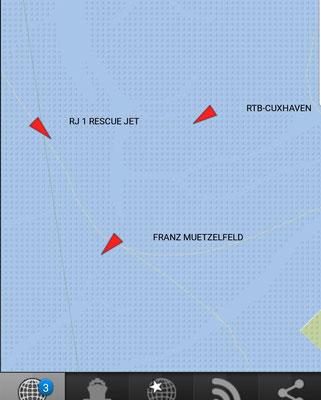 Die Boote von Feuerwehr und DLRG bei der Rettungsbake 6 © FF-Duhnen