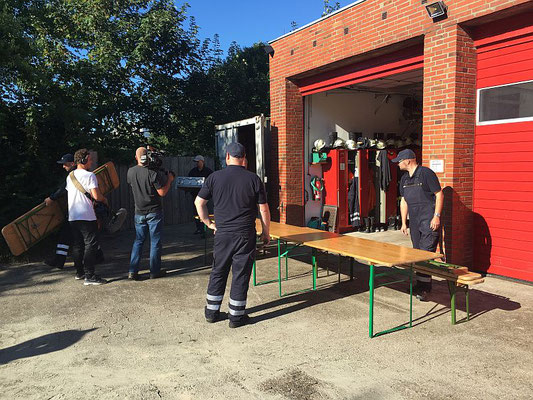 Vorbereitung des Grillens © FF.Cuxhaven-Duhnen