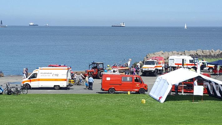 Unser Stand auf dem Festgelände © FF.Cuxhaven-Duhnen