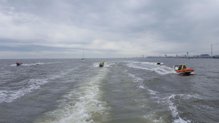 Auf dem Weg Richtung Bake Golf © FF.Cuxhaven-Duhnen