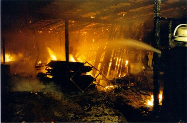 22.08.97 A - Feuer im FORT THOMSEN © FF-Duhnen