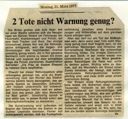 1977 © FF-Duhnen