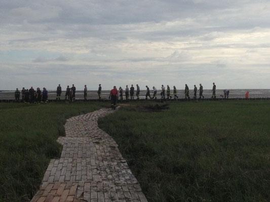 Die Einsatzkräfte am Weststack © FF-Duhnen