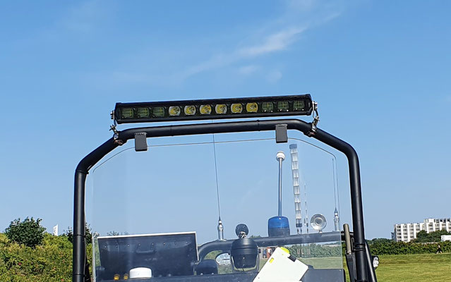 LED Balken am Fahrstand © Freiwillige Feuerwehr Cuxhaven-Duhnen