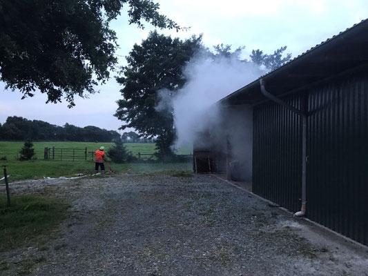 Für viel Rauch sorgte die Nebelmaschine © FF.Cuxhaven-Duhnen