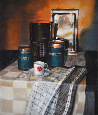 'My Still Life 3'; acrylic on canvas, 52 x 61 cm (20.5 x 24 inch).