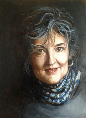 'Barbara Kingsolver', oilpaint on panel, 40 x 30 cm (15.8 x 11.8 inch).