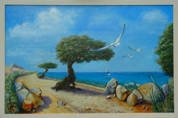 'Tropical', acrylic on canvas,