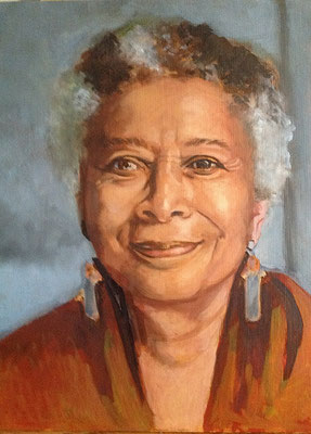 'Alice Walker', oilpaint on panel, 40 x 30 cm (15.8 x 11.8 inch).