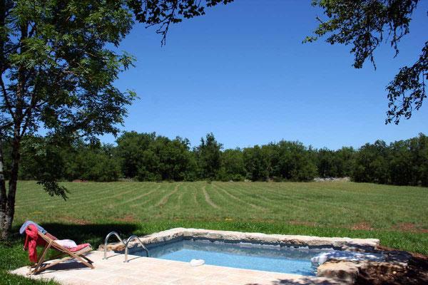 piscine privée location séjour Lot Quercy