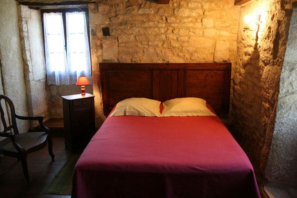 chambre du gite Lot occitanie