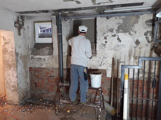 Innenausbau Keller Januar 2020