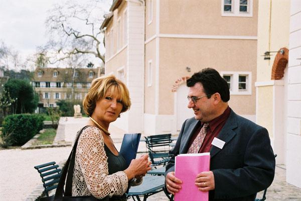 Dominique Crenne et mon complice Jean-Louis Martin, au Domaine du Montcel