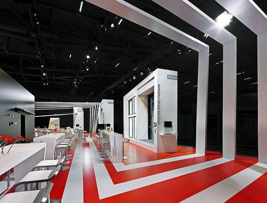 Messe-Architektur für Warema auf der BAU 2011. Foto: Andreas Keller