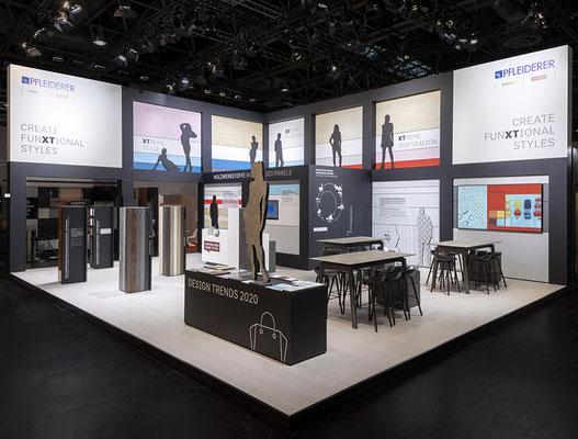 Messe-Architektur für Pfleiderer auf der Euroshop 2020, Foto: Tobias Vollmer