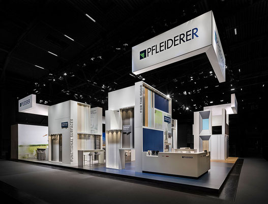 Messe-Architektur für Pfleiderer auf der BAU 2019, Foto: A. Keller