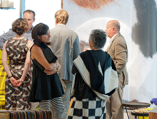 Event bei Ursula Maier Möbel in Stuttgart 2011, Kooperation mit Ute Mack Textildesign. Foto: René Müller