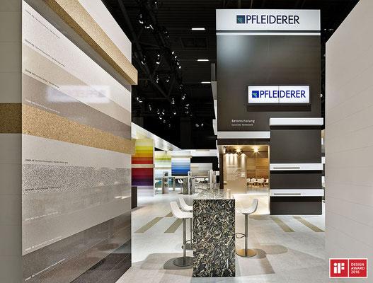 Messe-Architektur für Pfleiderer auf der BAU 2015. Foto: Andreas Keller