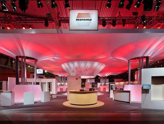 Messe-Architektur für Warema auf der R+T Stuttgart, 2012. Foto: A. Keller