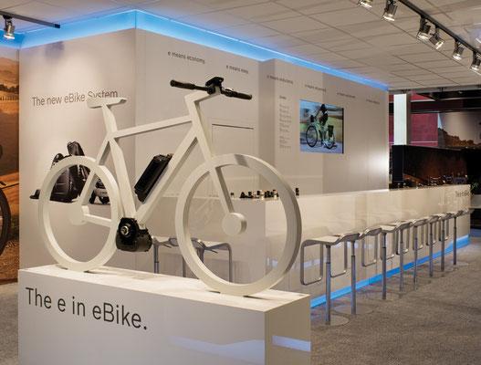 Messe-Architektur für BOSCH eBike Systems auf der EuroBike 2012 in Friedrichshafen. Foto: Werner Huthmacher