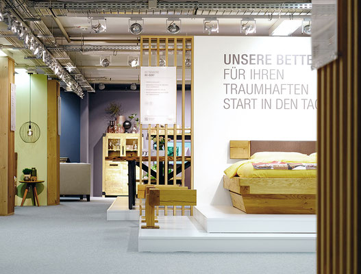 Messe-Architektur für 3S Frankenmöbel auf der MOW 2019, Foto: K. Kraus, kbw brands