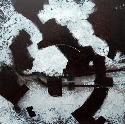 """""""Begegnungen"""", 100x100cm, 2020, Acryl auf Leinwand"""