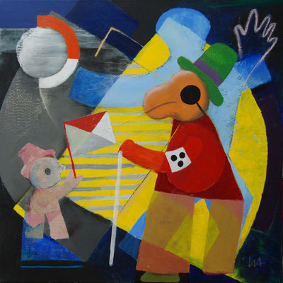 """""""mansiehtsich"""", Acryl auf Leinwand, 60 x 60 cm"""