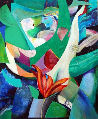 durch die Blume, Acryl auf Leinwand, 100 x 120 cm