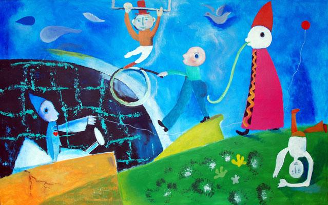 """""""Heilung"""", Acryl auf Leinwand, 160 x 100 cm"""
