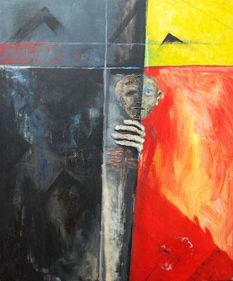 Flucht, Acryl auf Leinwand, 100 x 120 cm