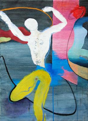 """Knopfsprung"", 80x110cm, 2020, Acryl auf Leinwand"