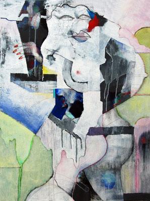 """Implantat"", Acryl auf Leinwand, 60 x 80 cm"