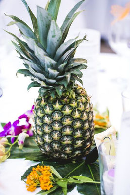 Ananas als Centerpiece