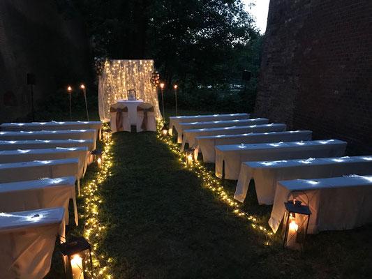 Kurz bevor das Tor für alle Gäste geöffnet wurde.