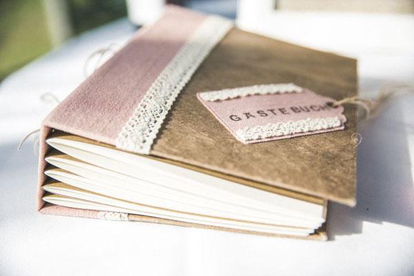 DIY Gästebuch im vintage Stil