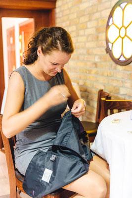 und auch für Ihre Gäste - so werden auch mal Knöpfe angenäht oder Schuhsohlen geklebt ;-)