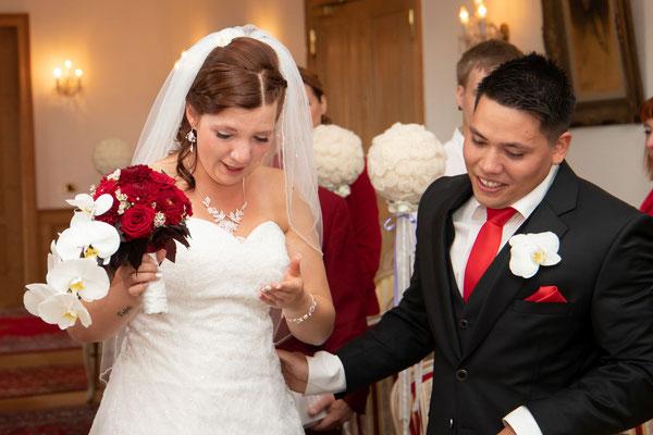 endlich geschafft - das glückliche Brautpaar