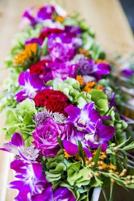 exotische Blumendekoration