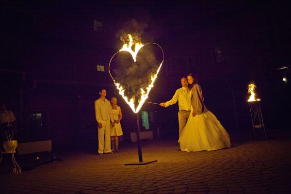 Hochzeitsplaner Berlin und Brandenburg - vintage Hochzeit - Feuershow