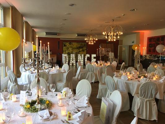 Eindruck des gesamten Hochzeitssaals
