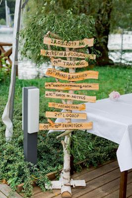 DIY Tagesablauf im rustikalen Hochzeitsstil