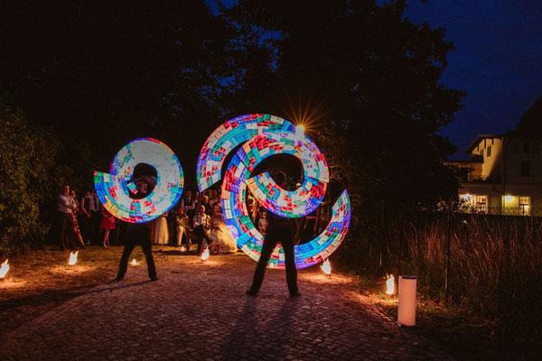 LED Show am Wasser