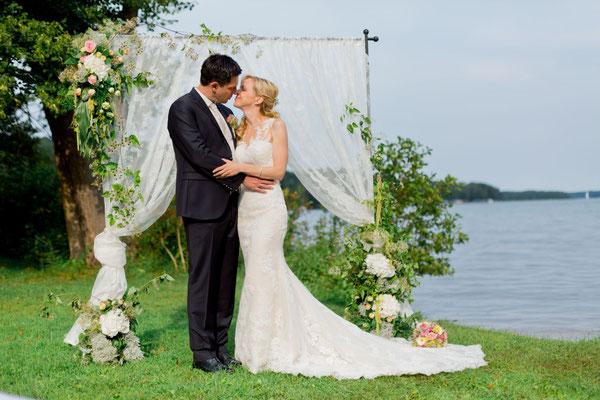 romantische Hochzeitskulisse