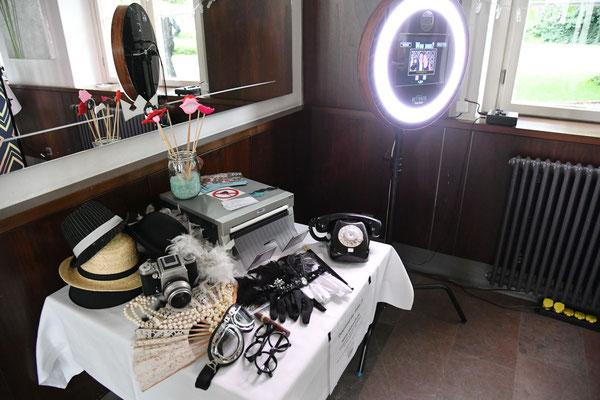 Fotobox im Saal