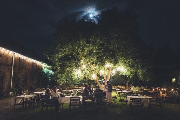 Abendstimmung im Innenhof