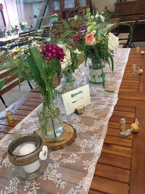 Die Tisch wurden nach Harry Potter Orten benannt - wir sitzt in Askaban?