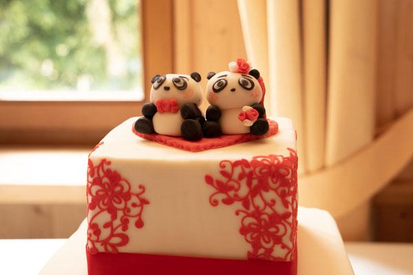 deshalb mussten es kleine Pandabären als Caketopper sein