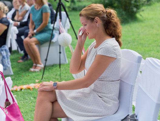 Tränen der Rührung auch bei der Wedding Planerin