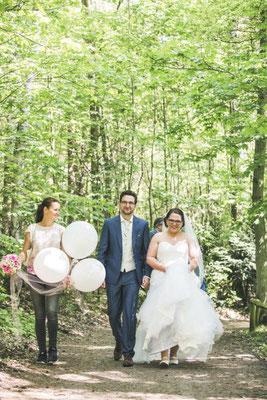 es geht zum Brautpaarshooting vor der Trauung